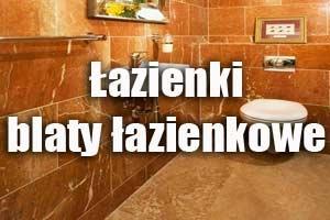 Łazienki, blaty łazienkowe